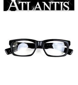 銀座店 クロムハーツ SPLAT メガネ 黒 フレーム 伊達眼鏡 アイウェア