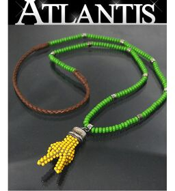 Ginza store Gucci beads necklace piece motif green green
