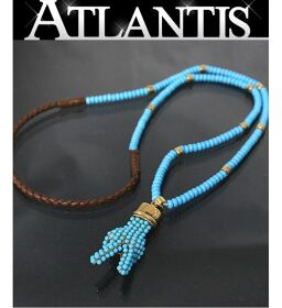 Ginza store Gucci beads necklace piece motif turquoise blue