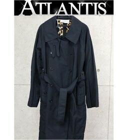 Ginza store Saint Laurent Paris trench coat double breasted long ladies black size40F