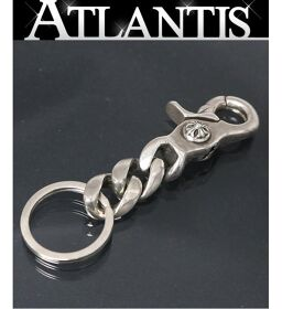 Ginza store Chrome Hearts clip with invoice Classic key chain Short key chain