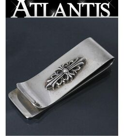 Ginza Store Chrome Hearts Floral Cross Money Clip Silver SV925