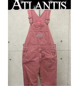 Ginza store Supreme 17AW WASHED DENIM OVERALL overall pink sizeM