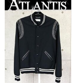 Ginza store Saint Laurent Paris teddy jacket with studs outer black size50