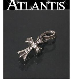 Ginza store Chrome Hearts Baby Fat Cross Charm Pave Diamond with Invoice