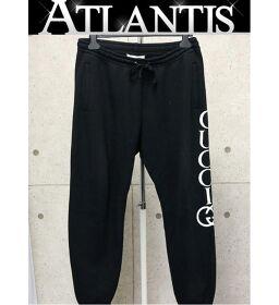 Ginza store Gucci logo line sweatpants bottoms black size: M