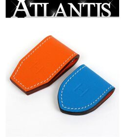 Ginza store Hermes new MAGNETS ATH magnet clip 2 pieces Swift orange x blue