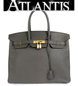 Ginza store beauty goods Hermes Birkin 35 ethane Taurillon Clemence gold metal fittings A engraved bag