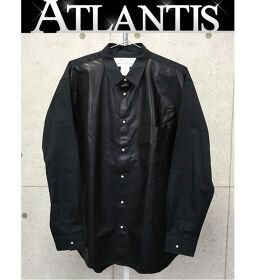 銀座店 新品 クロムハーツ インボイス付き コムデギャルソン コラボ レザーシャツ size:L