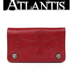 Ginza Store Chrome Hearts Cross Patch 1ZIP Wallet Wallet Cross Ball Silver SV925 Red