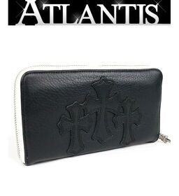 Ginza store Chrome Hearts with invoice REC F ZIP # 2 3 Cemetery cloth round fastener long wallet