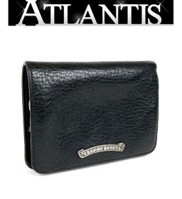 Ginza store Chrome Hearts with invoice Joey wallet bi-fold wallet leather SV925 black