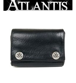 Ginza store Chrome Hearts 3 fold wallet with invoice Celtic button tri-fold wallet