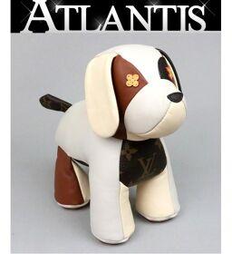 Ginza Store Louis Vuitton Dudu Oscar Dog Epi Figure Interior Brown x White GIO251