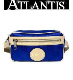 Ginza store Gucci off the grid belt bag blue 63134