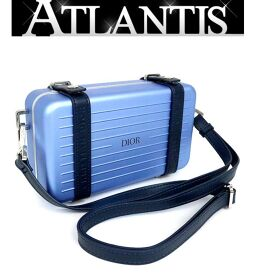 Ginza store Good Condition Dior x RIMOWA Personal Clutch Bag Shoulder Bag Light Blue