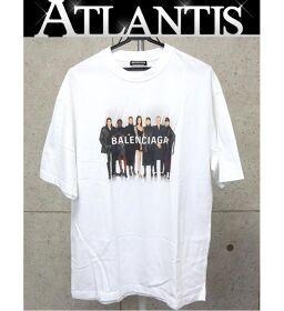 銀座店 バレンシアガ モデル Tシャツ プリント 白  size:XS