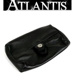 Ginza store Chrome Hearts WALLET TIRED TEARS tissue case black leather
