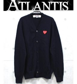 Ginza store Comme des Garcons PLAY cardigan size: L navy
