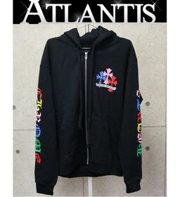 Ginza store Chrome Hearts new multicolor CH cross print dagger zip back brushed hoodie