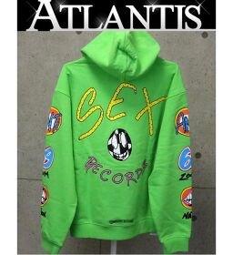 Ginza store new Chrome Hearts SEX RECORDS hoodie long sleeve green size: L