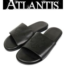 Ginza store New Chrome Hearts CH Plus sandal slides leather size42 (26cm) black