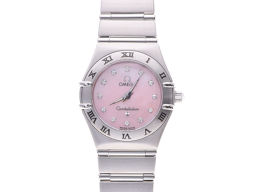 Second-hand Omega Constellation 1562.65 Pink shell dial 12P diamond SS OMEGA ◇