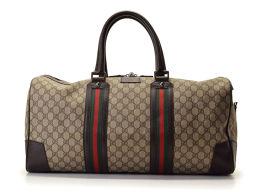 Gucci · GUCCI Boston bag GG plus PVC leather beige series dark brown series [pre] ◇