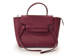 Used Celine dog with micro belt bag Leather Bordeaux strap Unused ◇
