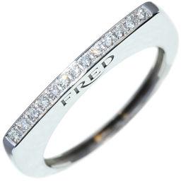 フレッド K18WG ダイヤ ミニサクセスリング 指輪(リング) #52(12号)