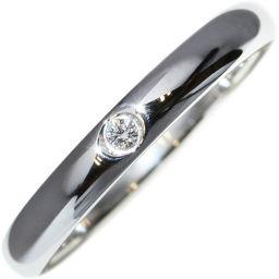 ティファニー Pt950 ダイヤ1P(0.02ct) エルサ・ペレッティスタッキング バンドリング 指輪(リング) 9号