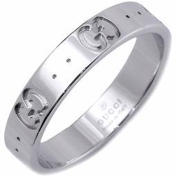 グッチ K18WG アイコンリング(幅4ミリ) 指輪(リング) #16(15.5号)