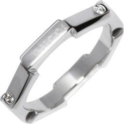 グッチ Pt950 ダイヤ7P リンクトゥラブ ウェディングバンドリング 指輪(リング)(310156) #7(6.5号)