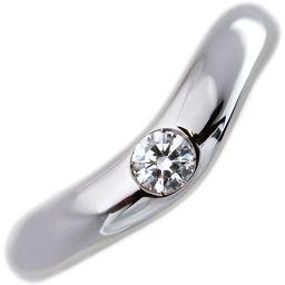 ブルガリ Pt950 ダイヤ1P コロナ ウェディングリング 指輪(リング) 9号