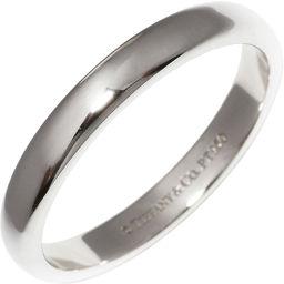 ティファニー Pt950 ルシダバンドリング(幅3ミリ) 指輪(リング) 15号