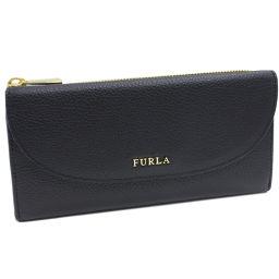 フルラ L字ファスナー長財布 (850870 PQ33) カーフ(黒)