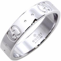 グッチ K18WG アイコンリング 指輪(リング) #8(8号)