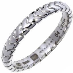 ブルガリ Pt950 スピガウェディングリング(幅3ミリ) 指輪(リング)(AN856816) #54(13.5号)