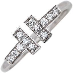 ティファニー K18WG ダイヤ0.13ct Tワイヤーリング 指輪(リング) 11号