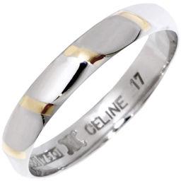 セリーヌ Pt850/K18YG 指輪(リング) メンズリング 17号