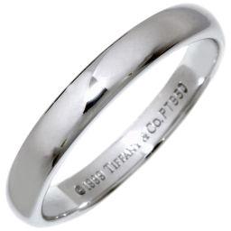 ティファニー Pt950 ルシダバンドリング(幅3ミリ) 指輪(リング) 9号