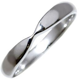 ティファニー Pt950 ハーモニーウェディングバンドリング(幅3ミリ) 指輪(リング) 5.5号