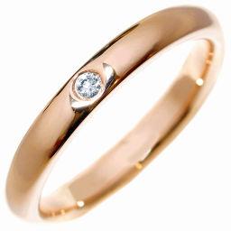 ティファニー K18PG ダイヤ1P(0.02ct) エルサ・ペレッティ スタッキングバンドリング 指輪(リング) 9号