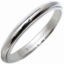 ティファニー Pt950 ミルグレインバンドリング(幅3ミリ) 指輪(リング) メンズリング 19号
