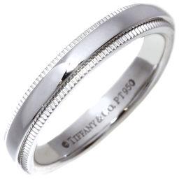 ティファニー Pt950 ミルグレイン バンドリング(幅3ミリ) 指輪(リング) 6.5号