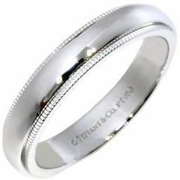 ティファニー Pt950 ミルグレインバンドリング(幅4ミリ) 指輪(リング) メンズリング 16号