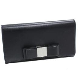 バレンシアガ ファスナー長財布 (354958) シープスキン(黒)