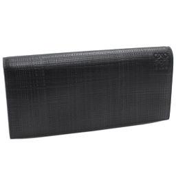 ロエベ ファスナー長財布 (101.88.978) テクスチャードカーフ(黒)