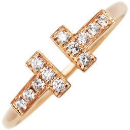 ティファニー K18PG ダイヤ Tワイヤーリング 指輪(リング) 7号
