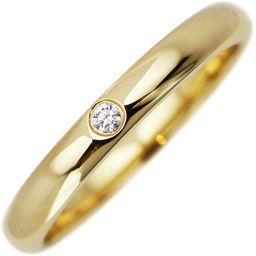 ティファニー K18YG ダイヤ1P(0.02ct) エルサ・ペレッティ スタッキングバンドリング 指輪(リング)